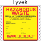 Hazardous Waste Tyvek Labels HWL415T
