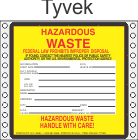 Hazardous Waste Tyvek Labels HWL500T
