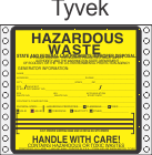 Hazardous Waste Washington Tyvek Labels HWL495WAT