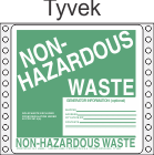 Non-Hazardous Waste Tyvek Labels HWL355T