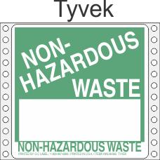 Non-Hazardous Waste Tyvek Labels HWL365T