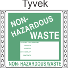 Non-Hazardous Waste Tyvek Labels HWL370T