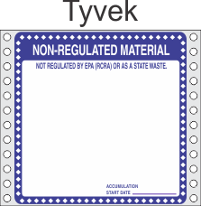 Non Regulated Material Tyvek Labels HWL276T