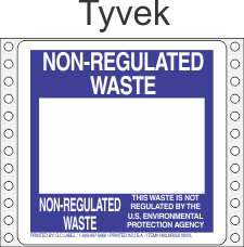 Non-Regulated Waste Tyvek Labels HWL250T