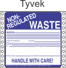 Non-Regulated Waste Tyvek Labels HWL255T