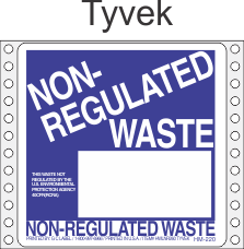 Non-Regulated Waste Tyvek Labels HWL260T