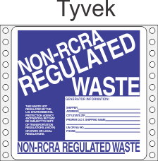 Non-Regulated Waste Tyvek Labels HWL265T