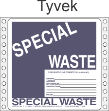 Special Waste Tyvek Labels HWL300T