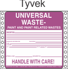 Universal Waste-Paint and Paint Related Tyvek Labels HWL619T