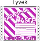 Universal Waste Tyvek Labels HWL626T