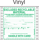 Excluded Recyclable Material Vinyl Labels HWL385V