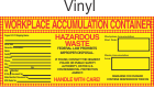 Hazardous Waste Blank-Workplace Accumulation Vinyl Labels HWL550V