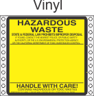 Hazardous Waste California Vinyl Labels HWL150V