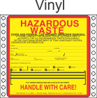Hazardous Waste California Vinyl Labels HWL175V