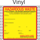 Hazardous Waste California Vinyl Labels HWL415CAV
