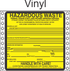 Hazardous Waste New Jersey Vinyl Labels HWL480NJV