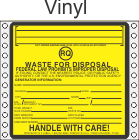 Hazardous Waste RQ Vinyl Labels HWL525V