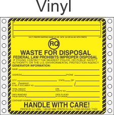 Hazardous Waste RQ Vinyl Labels HWL525V