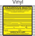 Hazardous Waste South Carolina Vinyl Labels HWL225SCV