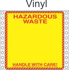 Hazardous Waste Vinyl Labels HWL155V