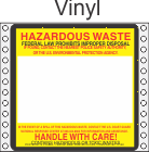 Hazardous Waste Vinyl Labels HWL165V