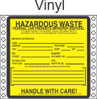 Hazardous Waste Vinyl Labels HWL170V