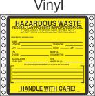 Hazardous Waste Vinyl Labels HWL170V
