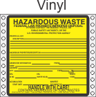 Hazardous Waste Vinyl Labels HWL200V