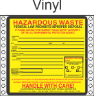 Hazardous Waste Vinyl Labels HWL320V