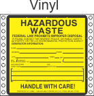Hazardous Waste Vinyl Labels HWL400V