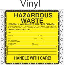 Hazardous Waste Vinyl Labels HWL400V