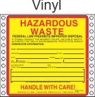 Hazardous Waste Vinyl Labels HWL405V