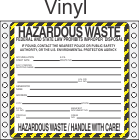 Hazardous Waste Vinyl Labels HWL410V