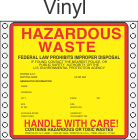 Hazardous Waste Vinyl Labels HWL415V