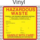 Hazardous Waste Vinyl Labels HWL415V
