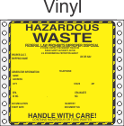 Hazardous Waste Vinyl Labels HWL440V