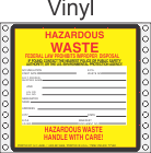 Hazardous Waste Vinyl Labels HWL500V