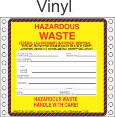 Hazardous Waste Vinyl Labels HWL500V