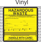 Hazardous Waste Washington Vinyl Labels HWL495WAV