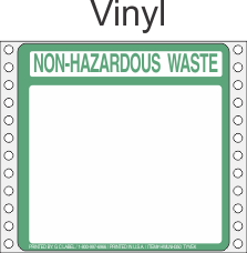 Non-Hazardous Waste Vinyl Labels HWL350V