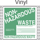 Non-Hazardous Waste Vinyl Labels HWL355V