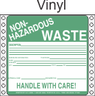 Non-Hazardous Waste Vinyl Labels HWL360V