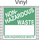 Non-Hazardous Waste Vinyl Labels HWL365V