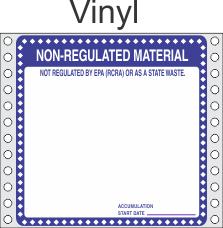 Non Regulated Material Vinyl Labels HWL276V