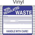 Non-Regulated Waste Vinyl Labels HWL255V