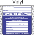 Non-Regulated Waste Vinyl Labels HWL270V