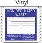 Non-Regulated Waste Vinyl Labels HWL275V
