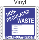 Non-Regulated Waste Vinyl Labels HWL285V