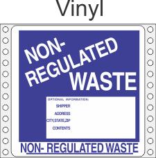 Non-Regulated Waste Vinyl Labels HWL285V