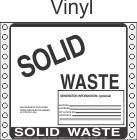 Solid Waste Vinyl Labels HWL315V